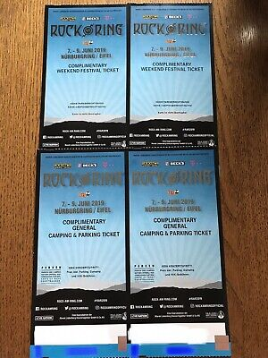 2 ROCK AM RING 2019 Weekend Festival Tickets +2General Camping & Parking Tickets