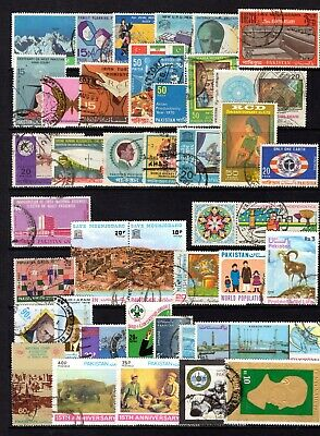 PAKISTAN MODERN COMMEMORATIVES GOOD TO FINE USED RANGE x 69 STAMPS NOT CAT