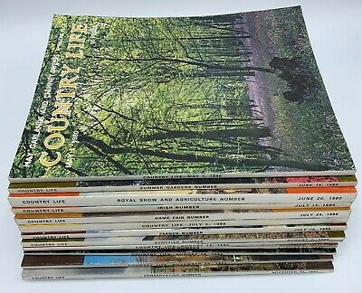 Country Life Magazine x 13  Issues from May to November 1980