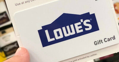 $100 Lowes gift card