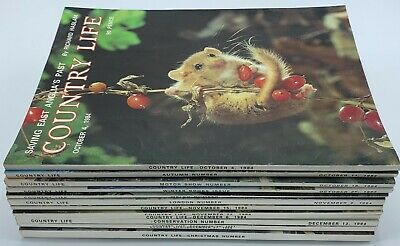 Lot of Country Life Magazine x 13  Issues from  October  to December 1984