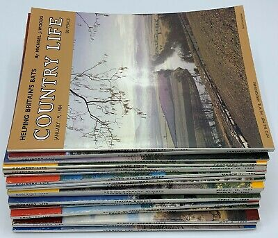 Lot of Country Life Magazine x 18  Issues from  January to May 1984
