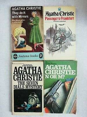 Agatha Christie 4 Vintage paperback books collection