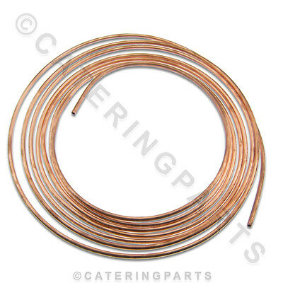10m roll of 6mm OUTSIDE DIAMETER SOFT DRAWN ANNEALED COPPER TUBING 10 METRE