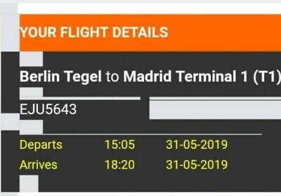 Champions League flight tickets, 2, one way.Manchester, Madrid 31st May, 1 Stop.