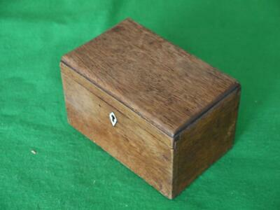 Nice Little Useful Antique Wooden Hardwood Dovetail Box Was A Tea Caddy