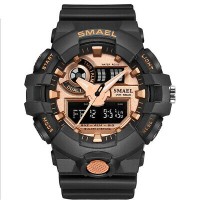 SMAEL Men Sport Watches Rubber Strap Digital LED Electronic Military Wristwatch