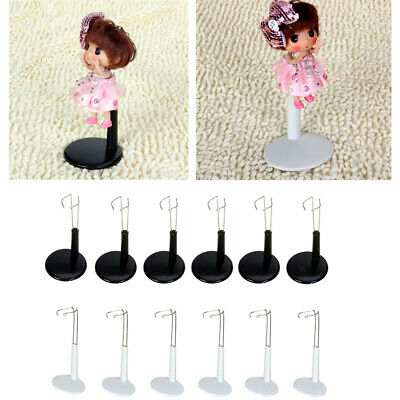 12Pcs C Type Metal Doll Stands for Doll Teddy Bear Base White/ Black 11-20cm
