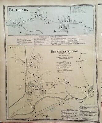 Brewsters Station, New York Antique Original Map Beers, Ellis, Soule 1867