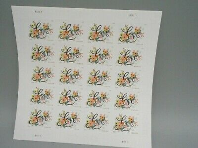Love Flourishes 2 Sheets of 20 USPS First Class Forever Postage Stamps Weddin...