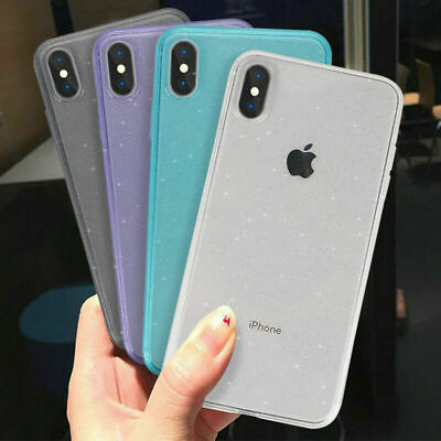 Glitter Glossy Clear Case Matte Bumper Soft Cover For iPhone XS Max XS XR X 8 7