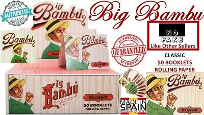 100% Authentic Big Bambu Classic 33 Leaves (50 Booklet) Cigarette Rolling Papers