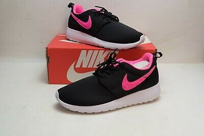 pretty nice 68e12 b574d Nike Girls Roshe One Gs Big Kids 599729-014 Black Pink Athletic Shoes Size 5