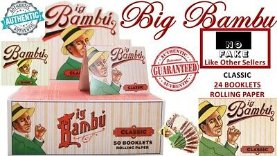 100% Authentic Big Bambu Classic 33 Leaves (24 Booklet) Cigarette Rolling Papers