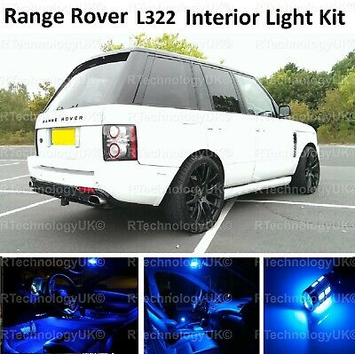 Blue Premium Range Rover Vogue L322 2002-2012 Led Interior Kit Lights Xenon