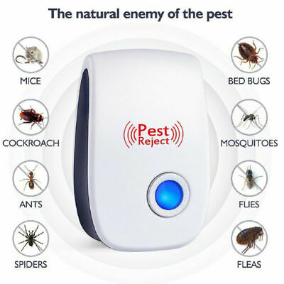 Ultrasonic Pest Reject Mosquito Cockroach Mouse Killer Electronic Repeller New