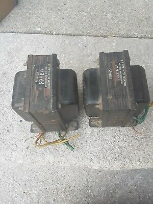 Vintage used pair of RGP-29 Freed Audio amplifier amp Transformers usa