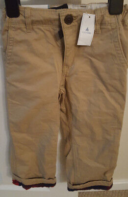 Boys Baby Gap Beige Trousers Age 3yrs BNWT