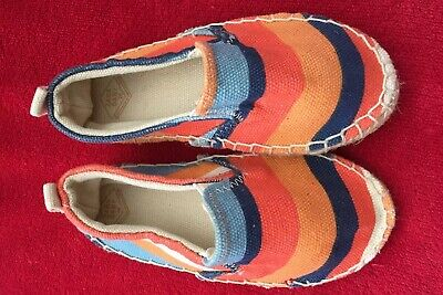3a790cf9259 NWOB ZARA Toddler baby Girl Multicolour ESPADRILLE Striped Size 24month