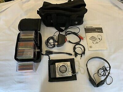 Sharp MD-MS722 MiniDisc Recorder With Cables, Manual, and 22 Discs! Works Great!