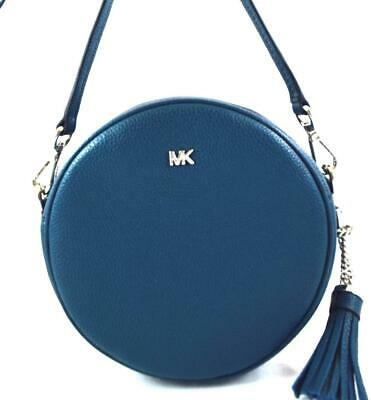 5f7bcbda436d New Nwt Michael Kors $158 Leather Med Canteen Blue Luxe Teal Crossbody Bag