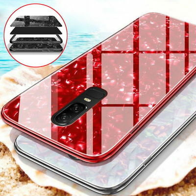 For Samsung S10 Plus S8 S9 Plus Note 9/8 Luxury Marble Tempered Glass Case Cover