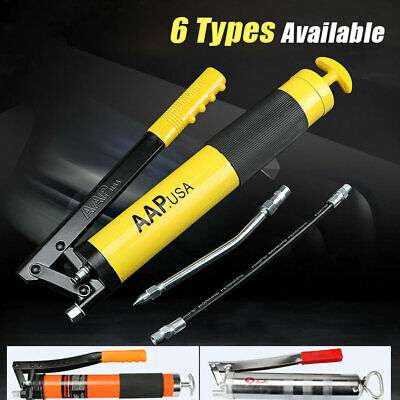 400-600CC Manual Grease Gun Set With Hose Heavy Duty Cordless Pistol Grip Lever