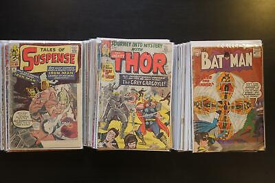 Huge Lot of 75 Silver and Bronze Age Comic Books, Marvel and DC Only