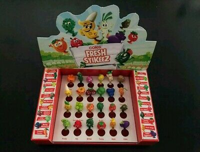 Coles Stikeez full completed set of 24 Mini collectables in case.