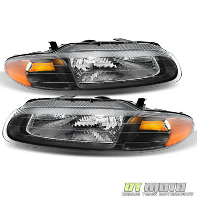 blk 1996-2000 chrysler sebring convertible headlights replacement  left+right set