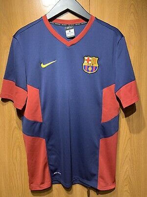 713d90aad75 FC Barcelona FCB Mens Medium Nike Soccer Training Jersey Dri Fit red black