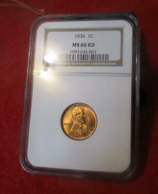 1936 NGC MS 66 RD Red Lincoln Wheat Cent                             #MF-1324