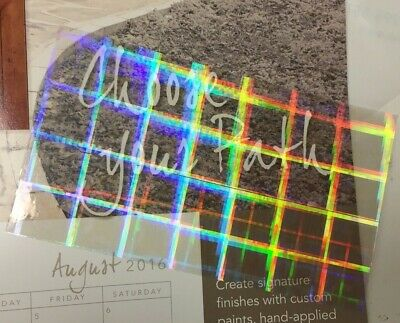 Transparent Holographic PLAID Overlay, Adhesive Coated Vinyl Lamination Grade