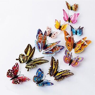 12pcs Lots Fridge Magnets Butterfly Kitchen Magnets Refrigerator Home Ornament
