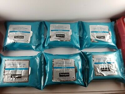 (6-Packs) Neutrogena Hydrating Makeup Remover Cleansing Towelettes 25 ea bag
