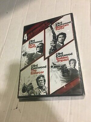 4 Film Favorites Dirty Harry The Enforcer Clint Eastwood DVD K293