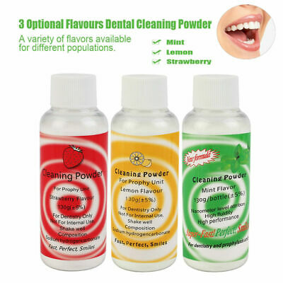 3 Optional Flavours Dental Cleaning Powder Air Flow Polishing Prophy Teeth 130g