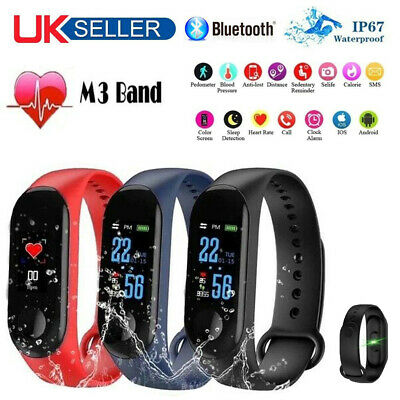 Smart Watch Bluetooth Heart Rate Blood Pressure Sports Fitness Activity Tracker