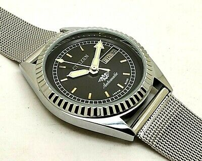 vintage citizen automatic men's steel japan made movement No 8200 run order