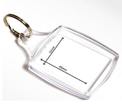 35mm x 45mm BLANK KEYRING ADD YOUR OWN PHOTO CUSTOMIZE PERSONALIZE
