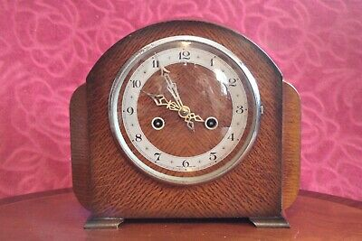 Vintage British 'Enfield' 8-Day Striking Mantel Clock, early 20th Century