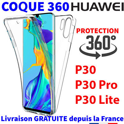 Coque Huawei P30 P30 Pro P30 Lite 360 Full Protection Intégrale Silicone Souple