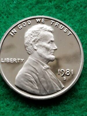 1981-s  Uncirculated Lincoln cent/penny-proof- **Free ship**