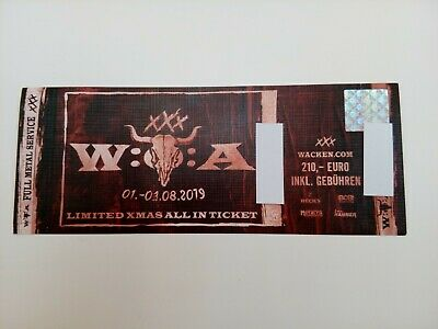 Wacken Festival 2019 XMAS Ticket 3 Days All In -SOLD OUT-