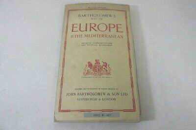Bartholomew's Map of Europe & The Mediterranean, 1944, cloth 98cm x 78cm approx