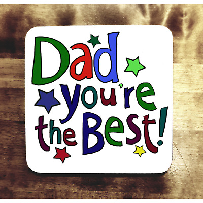 Funny Dad Gift Idea Coaster Father Cheap Birthday Present