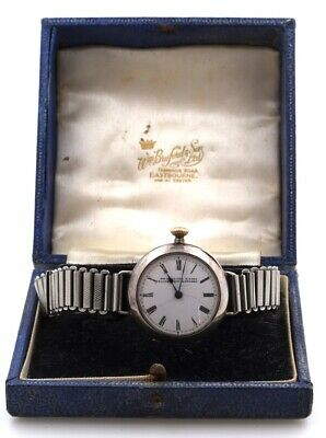 Omega Early Jewellers Silver Trench Watch Conversion Boxed In  Working Order