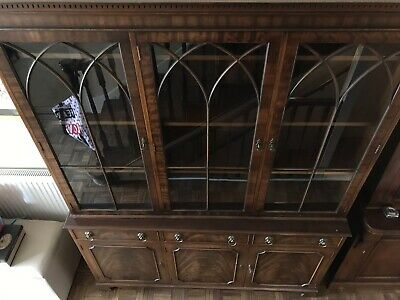 Solid Wood Mahogany Reproduction Display Cabinet Book Case
