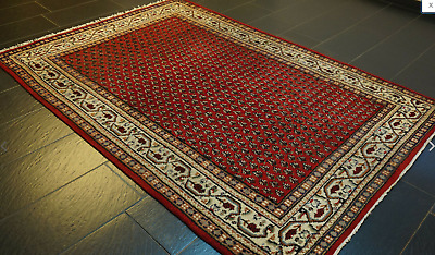 Wool Rug Hand Knotted Large Carpet Oriental Traditional Vintage 245 x 170cm