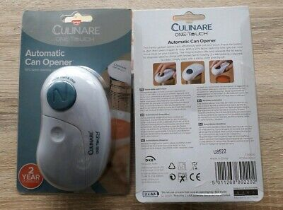 2x, Culinare One Touch Automatic Can Opener Retail price £19each, buy 2for £20